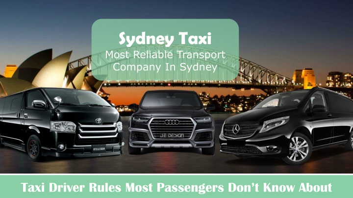 sydney taxi most reliable transport company n.