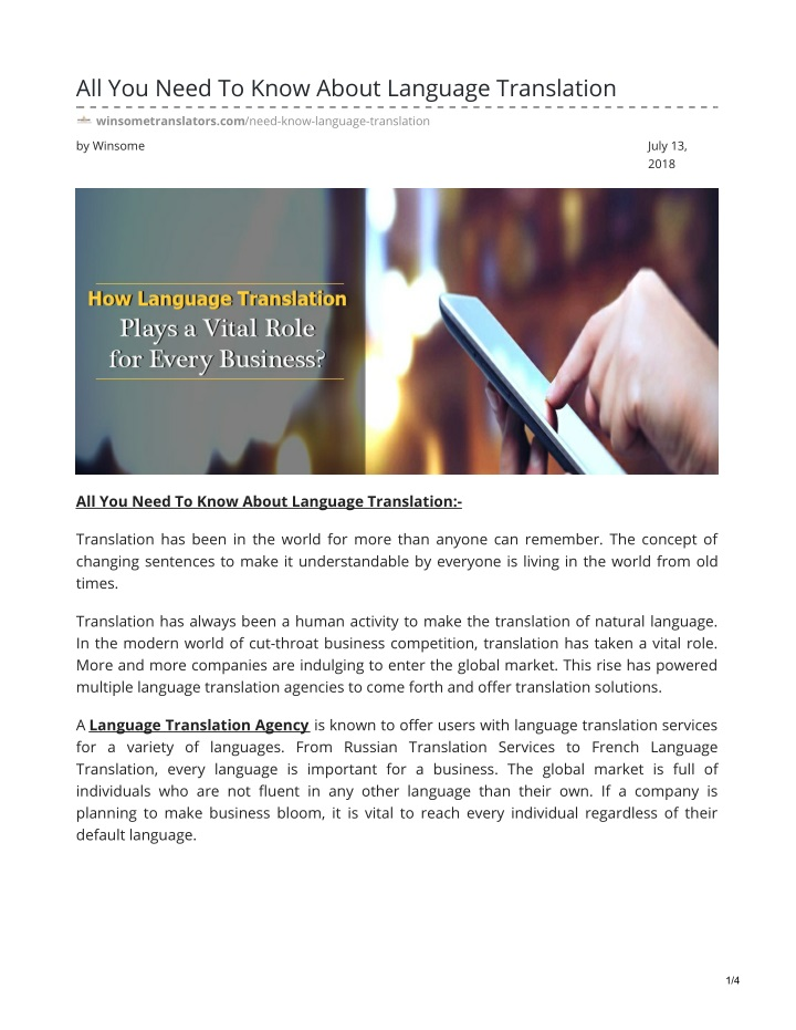 all you need to know about language translation n.