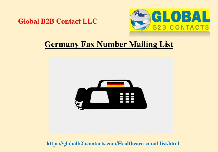 germany fax number mailing list n.