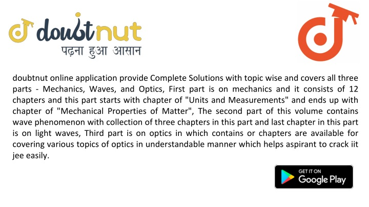 doubtnut online application provide complete n.