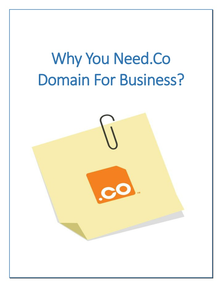 why you need co why you need co domain n.