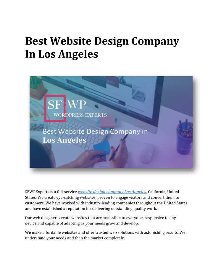 best website design company in los angeles n.