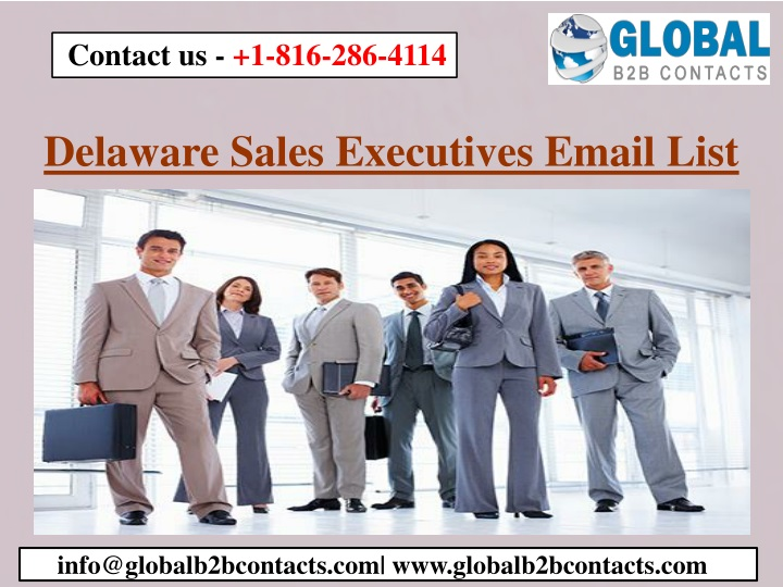 delaware sales executives email list n.