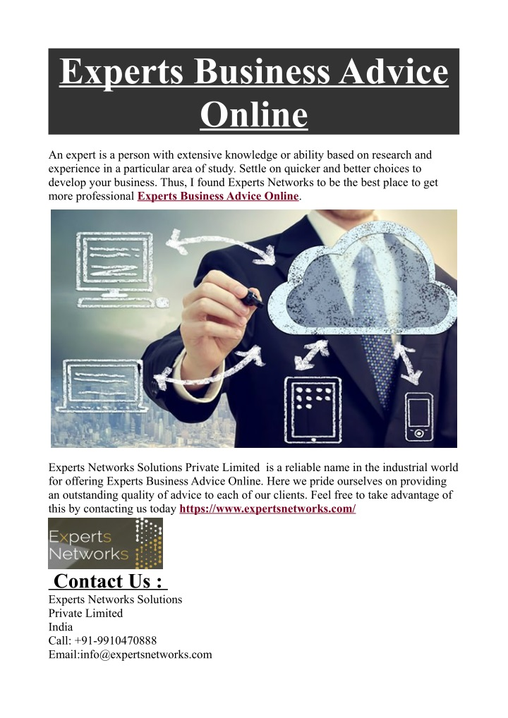experts business advice online n.