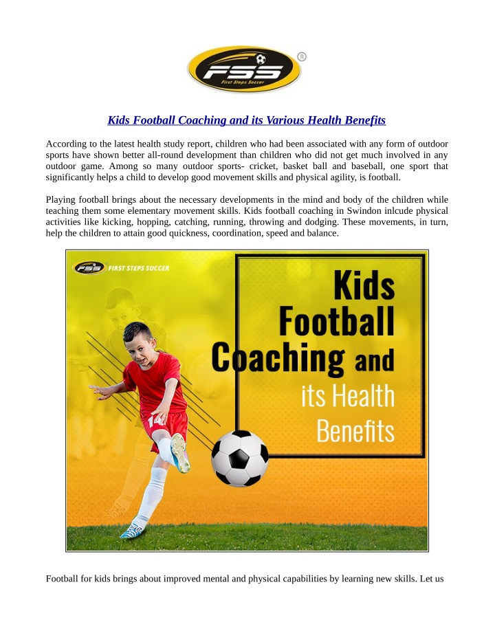 kids football coaching and its various health n.