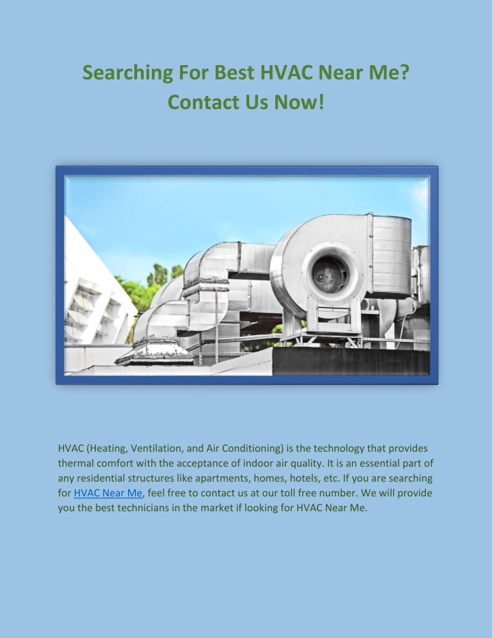 searching for best hvac near me contact us now n.