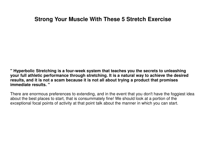 strong your muscle with these 5 stretch exercise n.