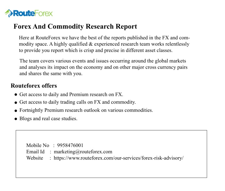 forex and commodity research report n.