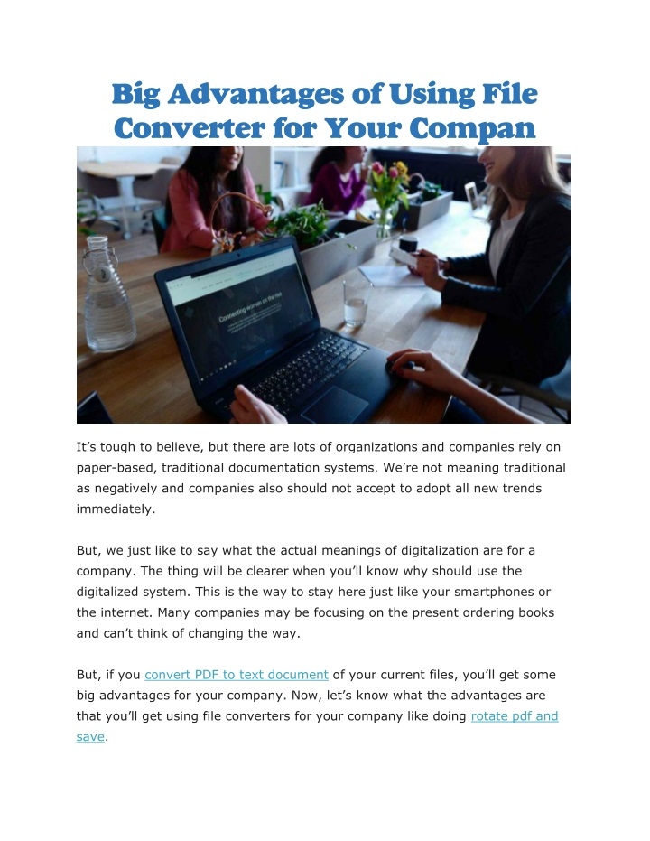 big advantages of using file converter for your n.