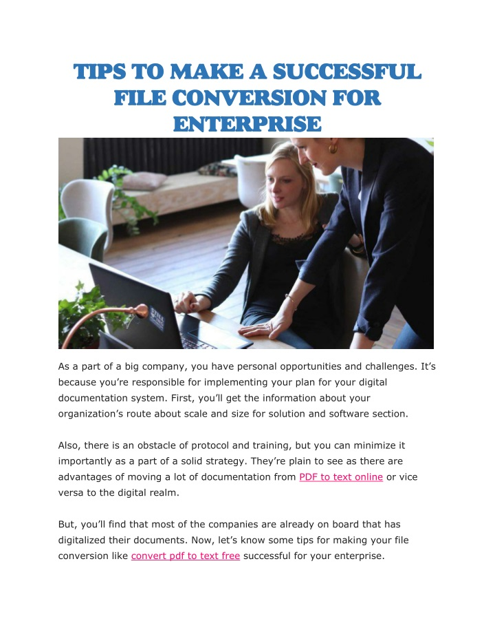 tips to make a successful file conversion n.