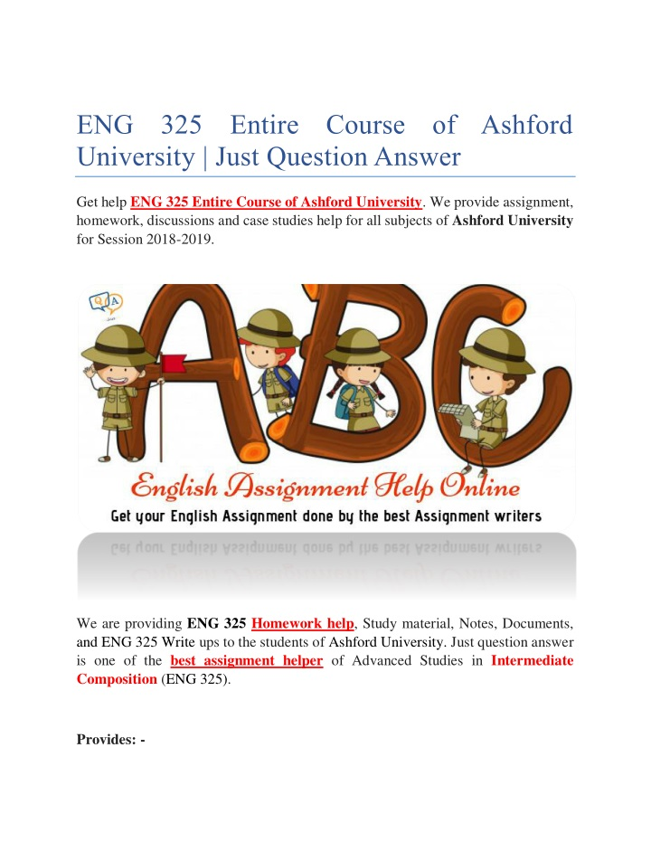 eng 325 entire course of ashford university just n.