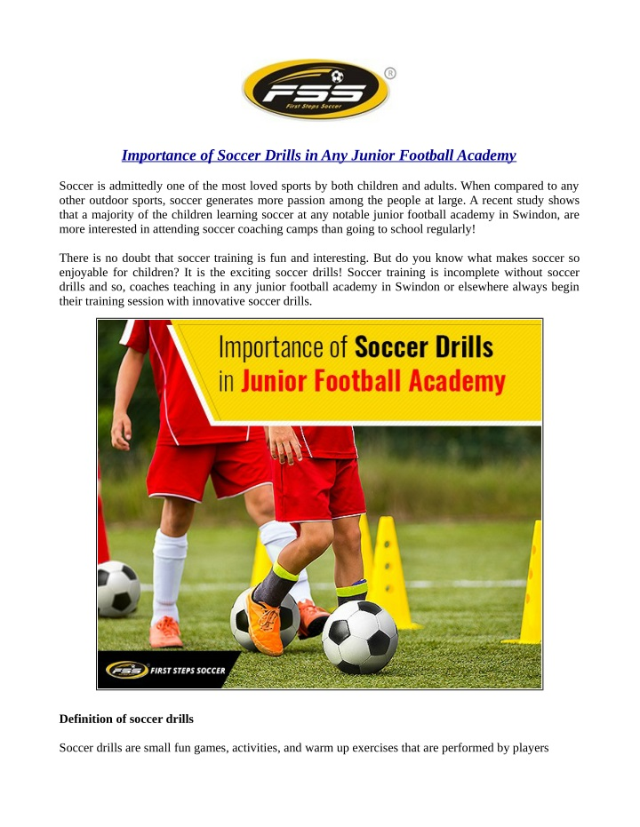 importance of soccer drills in any junior n.
