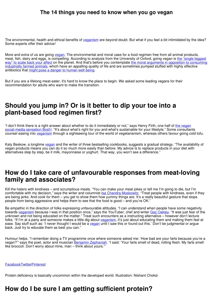 the 14 things you need to know when you go vegan n.