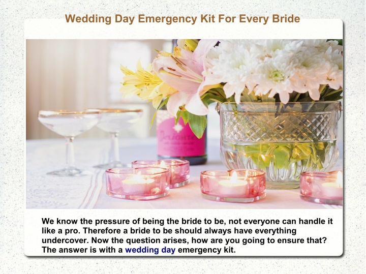 wedding day emergency kit for every bride n.