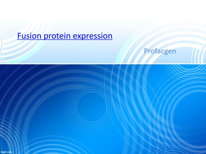 fusion protein expression n.