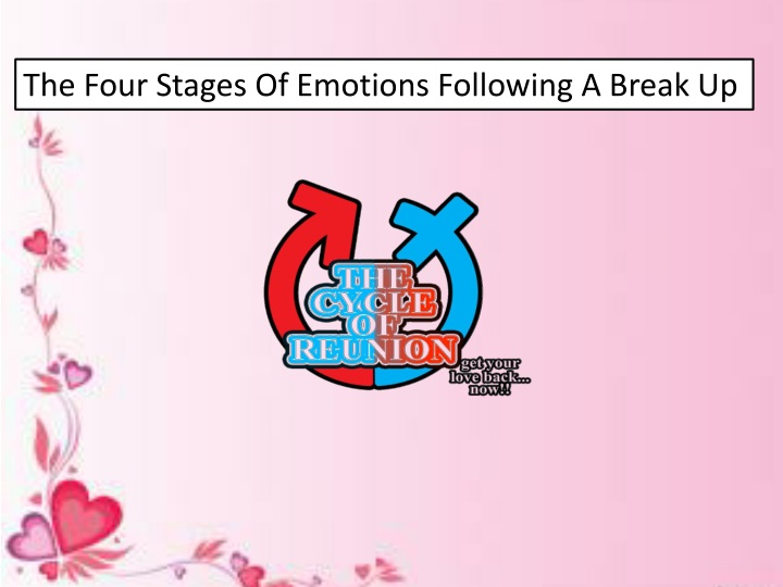 the four stages of emotions following a break up n.