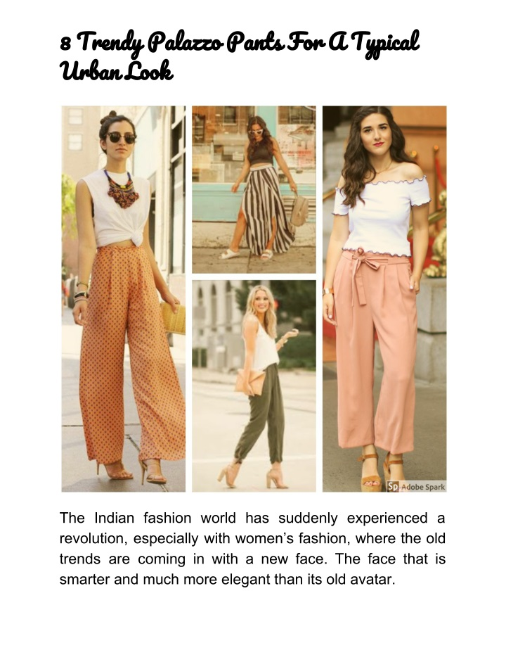 8 trendy palazzo pants for a typical urban look n.
