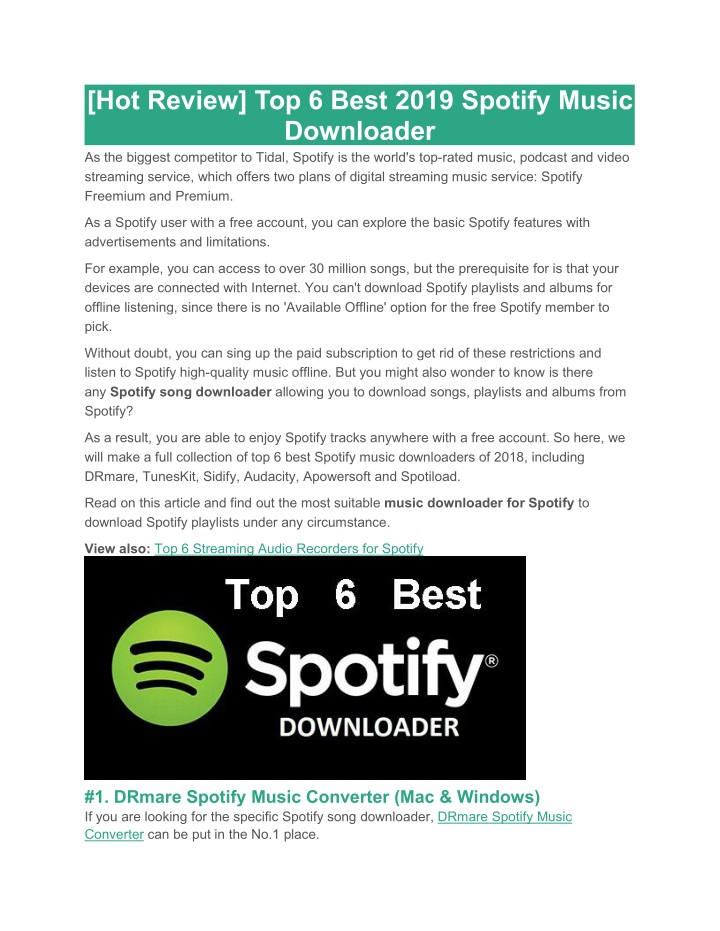 hot review top 6 best 2019 spotify music n.