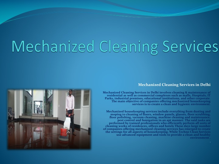 mechanized cleaning services n.