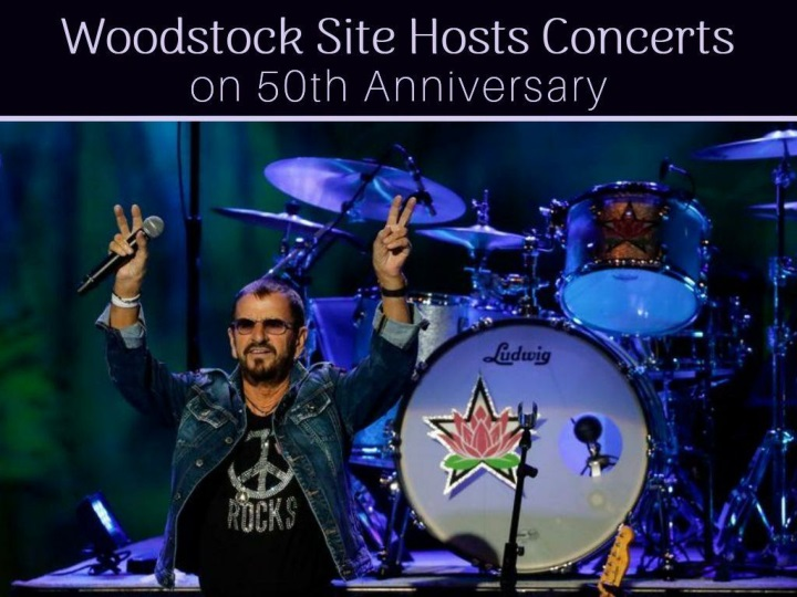 woodstock site hosts concerts on 50th anniversary n.