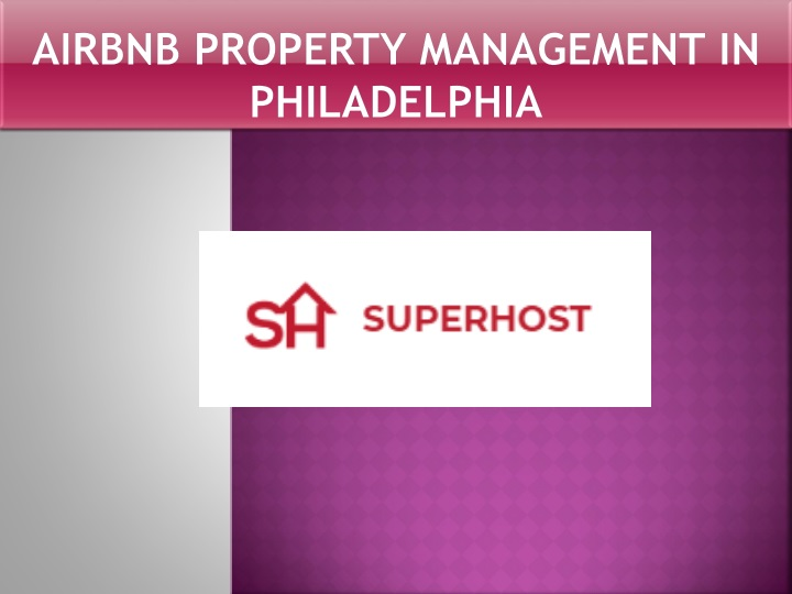 airbnb property management in philadelphia n.