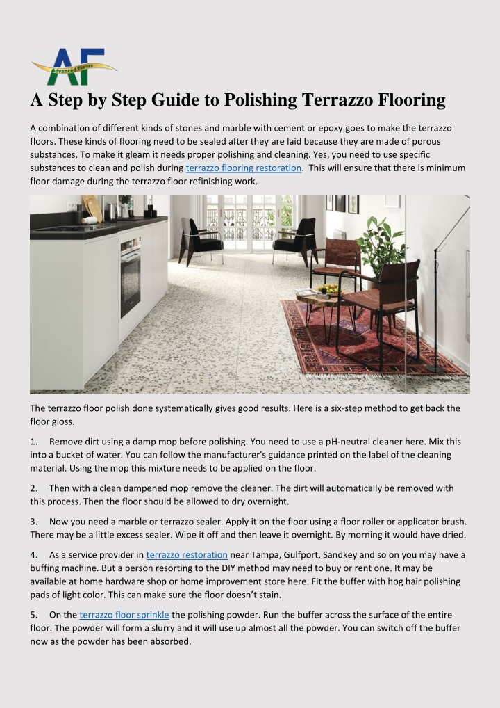 a step by step guide to polishing terrazzo n.