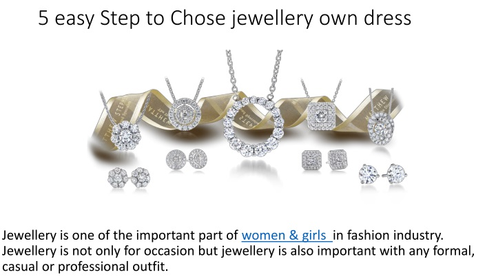 5 easy step to chose jewellery own dress n.