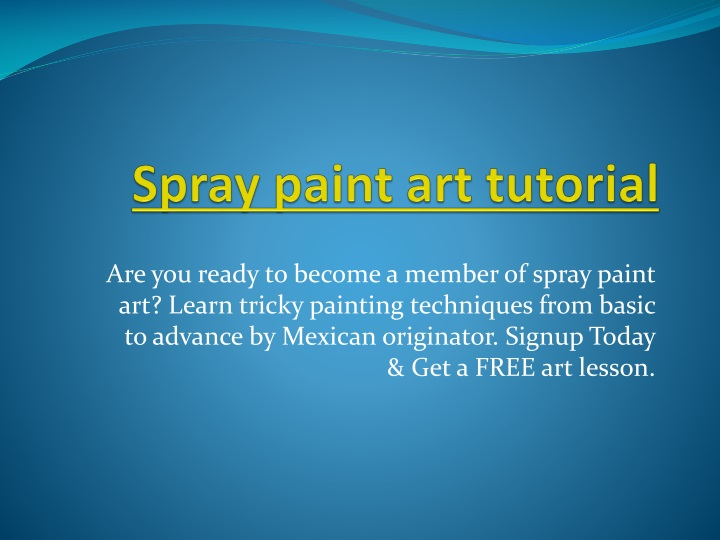 spray paint art tutorial n.