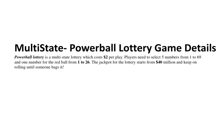 multistate powerball lottery game details n.