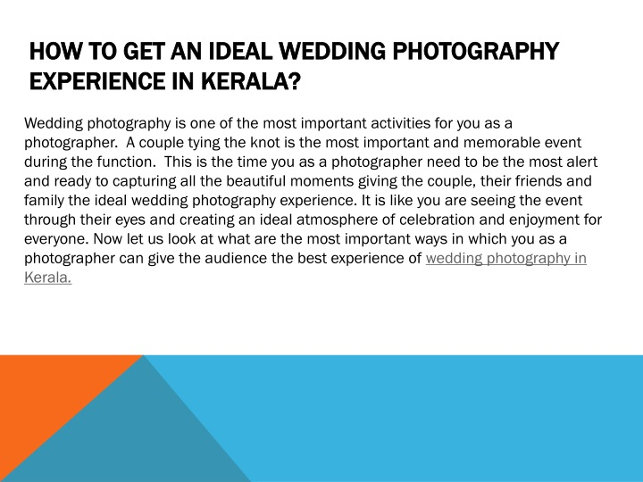 how to get an ideal wedding photography experience in kerala n.