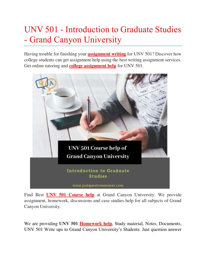 unv 501 introduction to graduate studies grand n.
