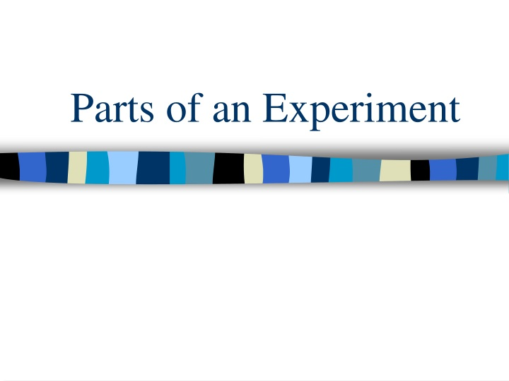 parts of an experiment n.
