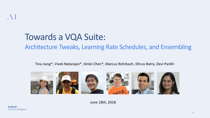 towards a vqa suite architecture tweaks learning n.