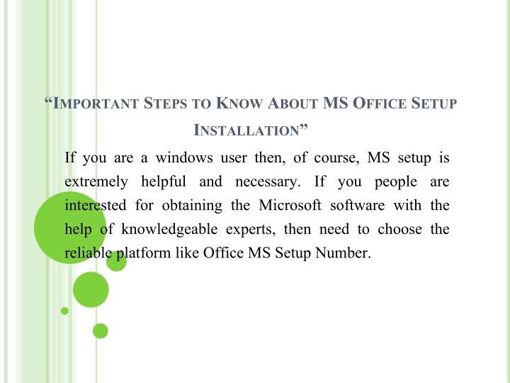 important steps to know about ms office setup installation n.