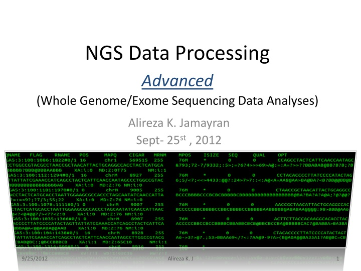 ngs data processing advanced whole genome exome sequencing data analyses n.