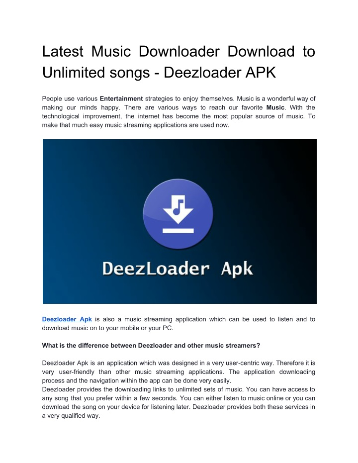 latest music downloader download to unlimited n.