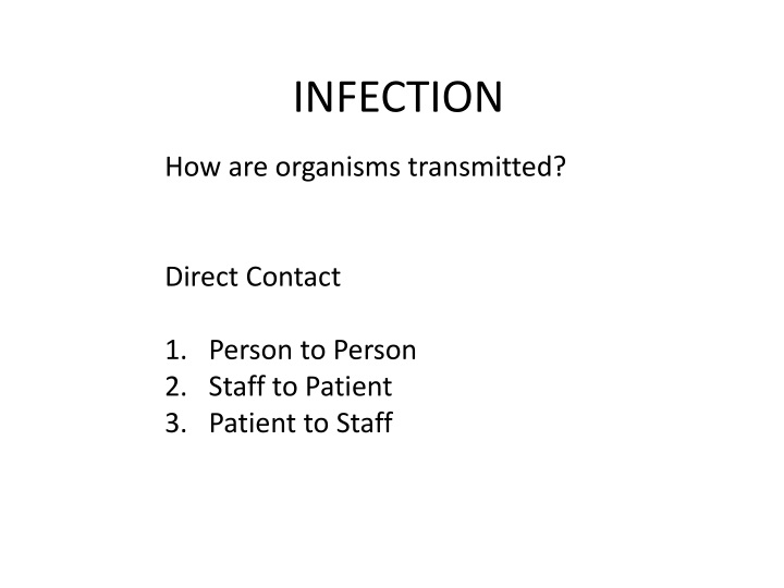 infection n.
