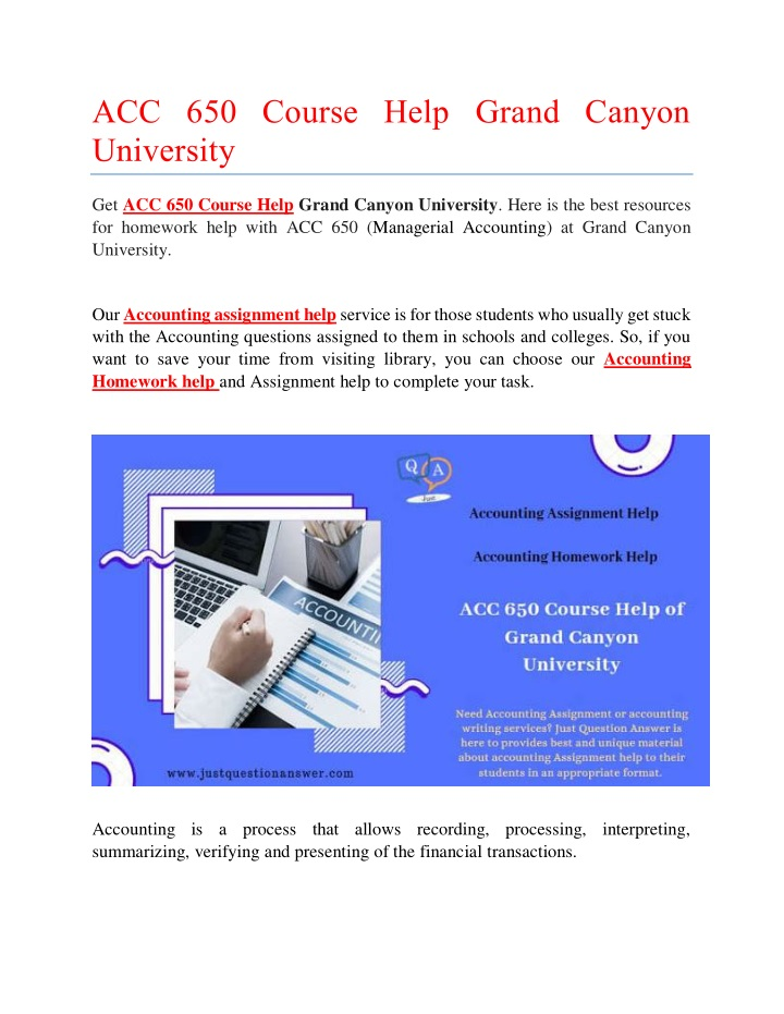 acc 650 course help grand canyon university n.
