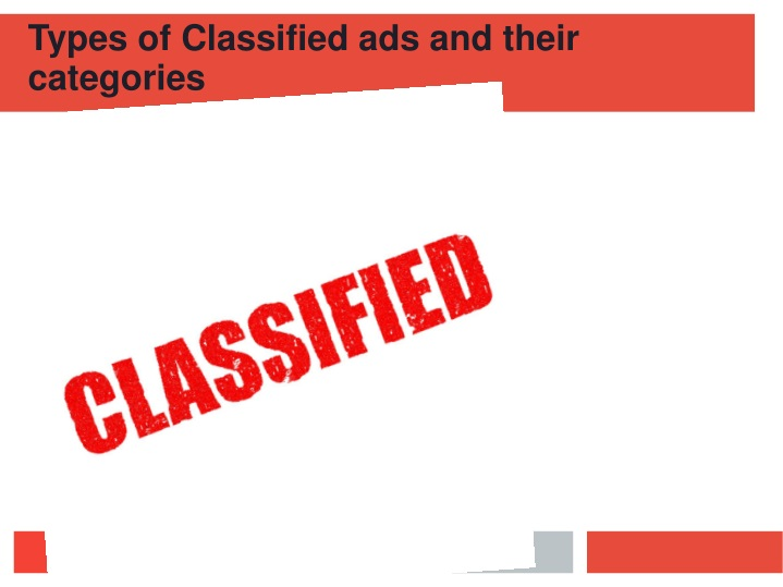types of classified ads and their categories n.