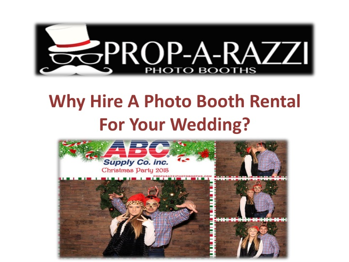 why hire a photo booth rental for your wedding n.