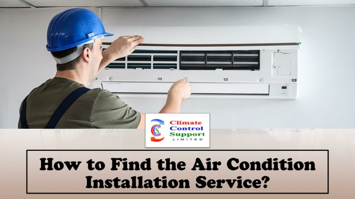 how to find the air condition installation service n.