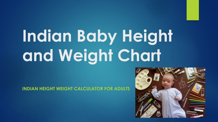 indian baby height and weight chart n.