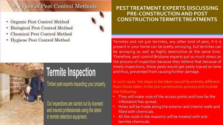 Ppt Pest Treatment Experts Discussing Pre Construction And Post Construction Termite Treatments Powerpoint Presentation Id 8477051