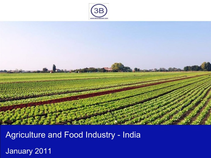 agriculture and food industry india n.