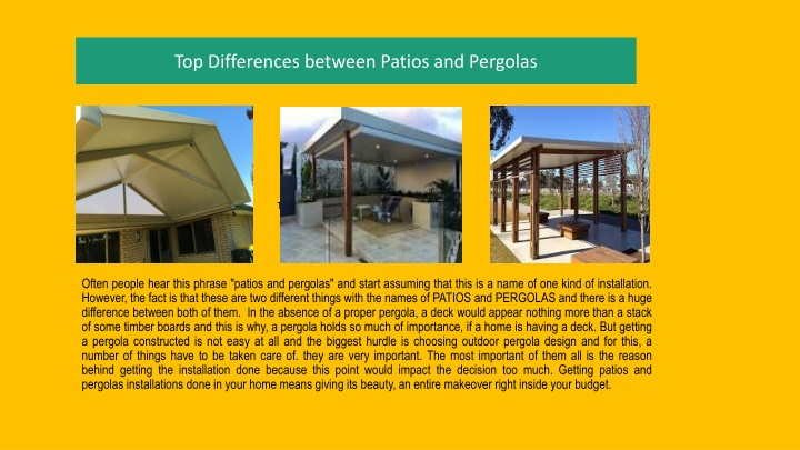 top differences between patios and pergolas n.