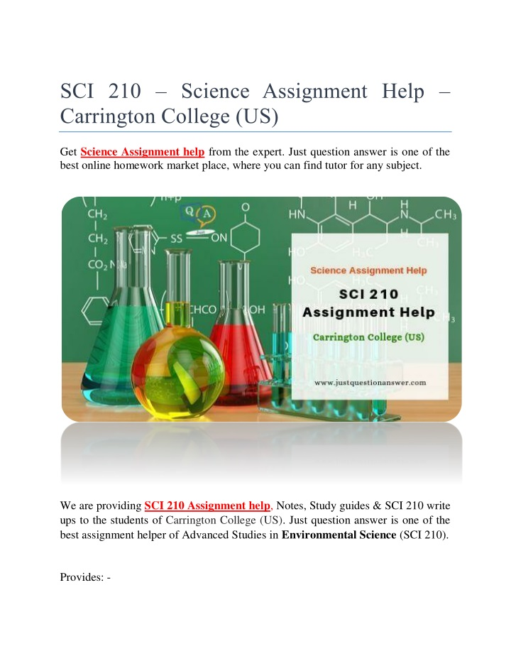 sci 210 science assignment help carrington n.