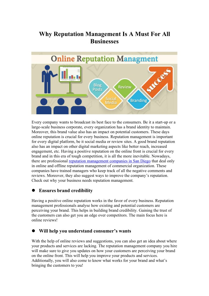why reputation management is a must n.