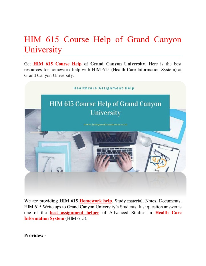 him 615 course help of grand canyon university n.