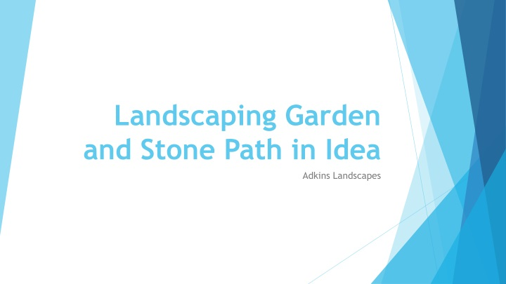 landscaping garden and stone path in idea n.