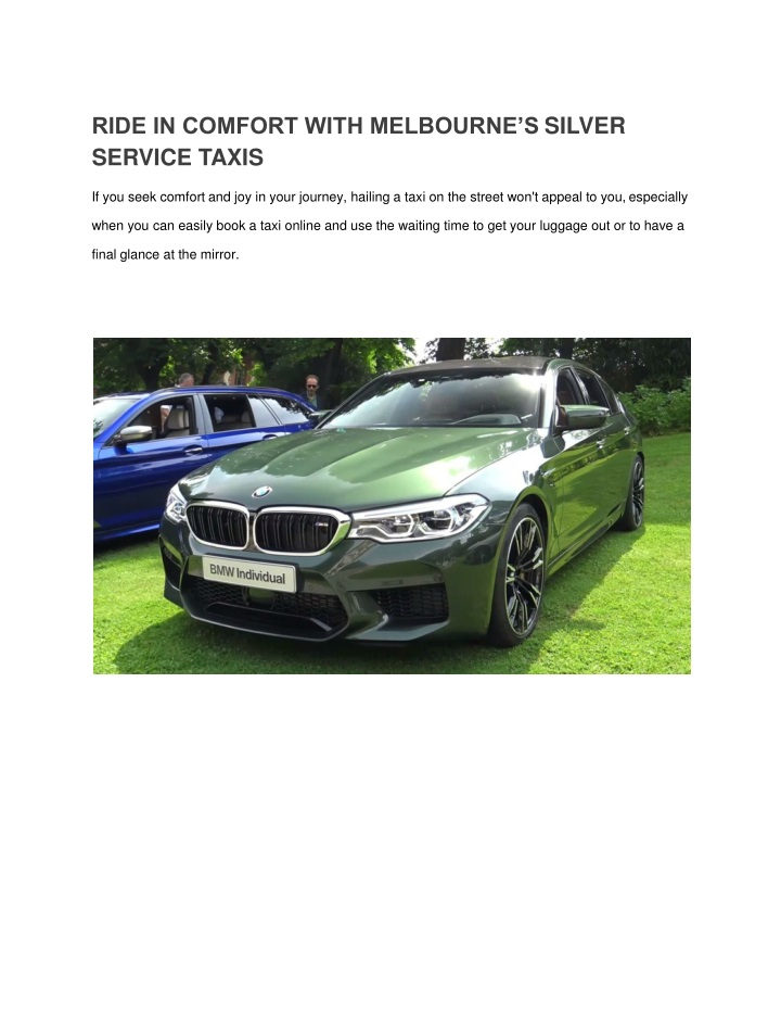 ride in comfort with melbourne s silver service n.
